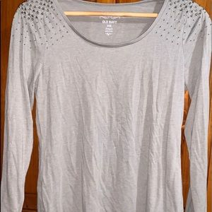 Old Navy bejeweled long sleeve blouse shirt small